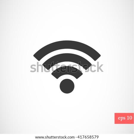 Wi fi icon vector #417658579
