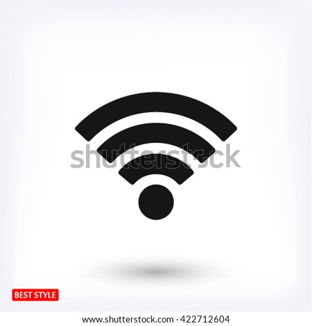 Wi fi icon vector #422712604