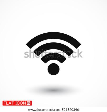 Wi fi icon vector #521520346