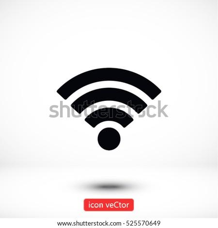 Wi fi icon vector #525570649