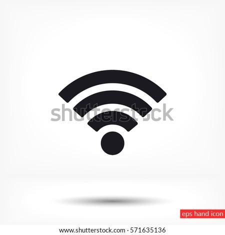 Wi fi icon vector #571635136
