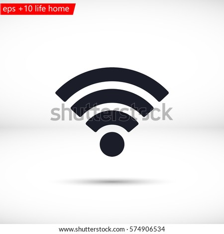 Wi fi icon vector #574906534