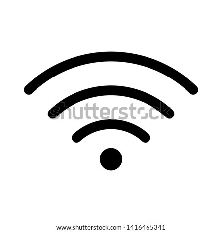 Wi-Fi Icon.Vector illustration. Flat design for business financial marketing banking advertising web concept cartoon illustration.