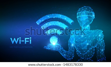 wi fi low poly abstract wi fi