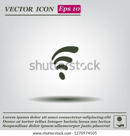 Wi-fi, web icon. vector design