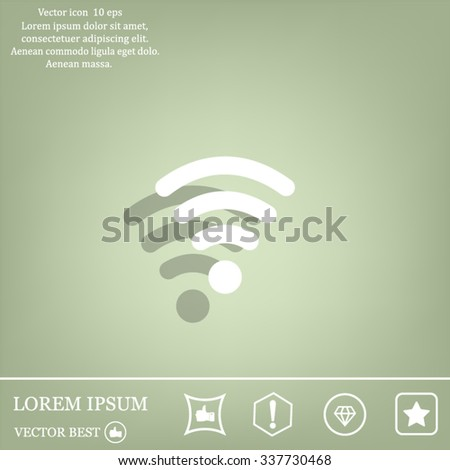Wi-fi, web icon. vector design