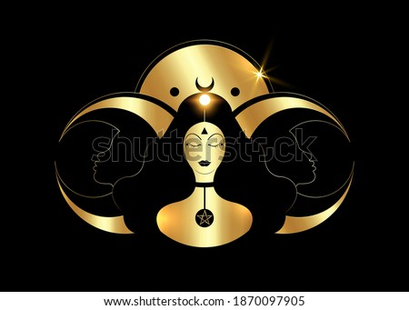 wiccan woman icon  triple