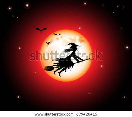 wicked witch and red moon