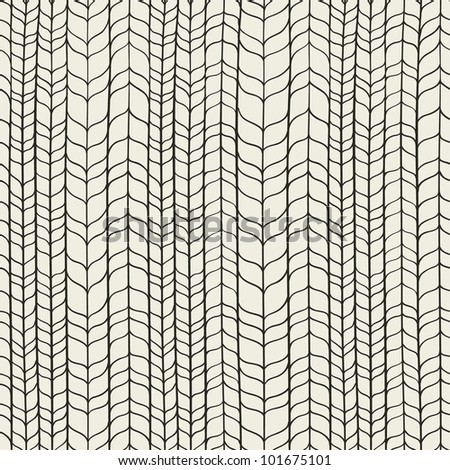 Wicker black and white texture. Seamless pattern
