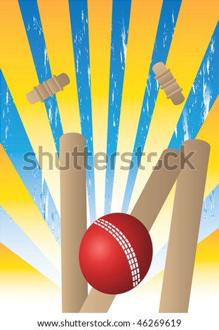 wickets with yellow rays