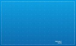 Wide blueprint background texture. Vector illustration.