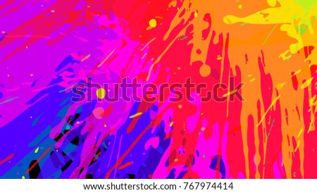 Stock Photo Wide format abstract colorful grunge background. Place for text. Paint splashes. Background for presentation business card. Full HD 4K wallpaper. Vector without gradient, EPS10 with transparency