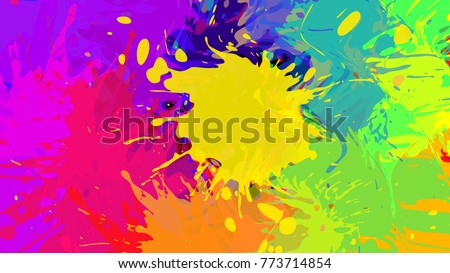 wide format abstract colorful