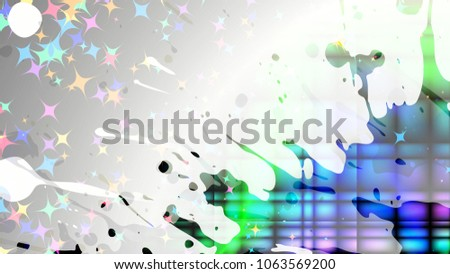 Stock Photo Wide format abstract grunge background. Vector EPS10 with mesh gradient and transparency. Place for text. Paint splashes. Background for funky card, flyer party. Full HD 4K grunge wallpaper.