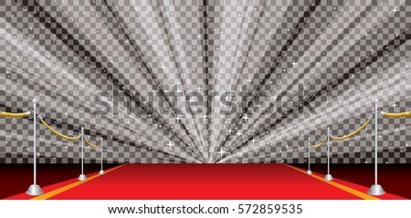 stock-vector-wide-illustration-of-empty-red-carpet-with-transparent-star-burst-editable-and-layered