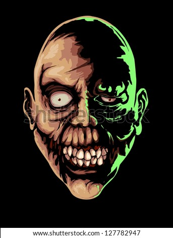 wide mouth zombie vector