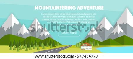wide panoramic countryside