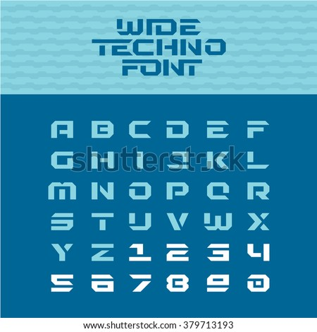 wide techno poster font