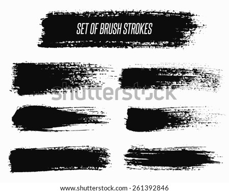 wide vector grunge brush