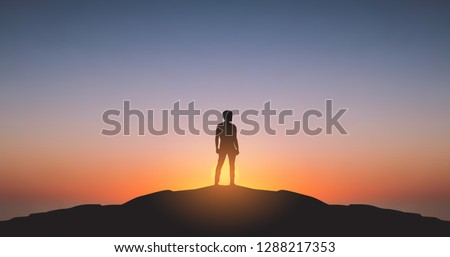 widescreen silhouette of man