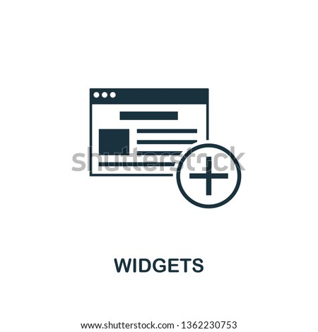 Widgets icon. Creative element design from content icons collection. Pixel perfect Widgets icon for web design, apps, software, print usage.