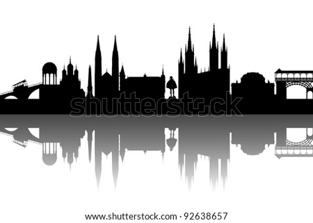 Wiesbaden silhouette abstract