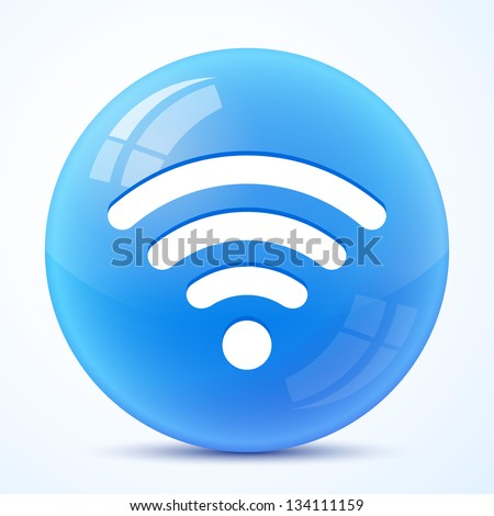 wifi blue symbol isolated