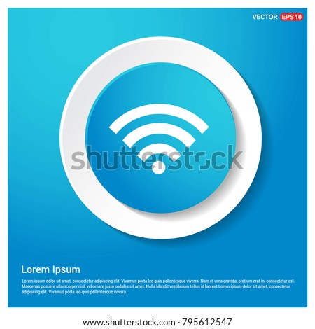 Wifi Icon Abstract Blue Web Sticker Button