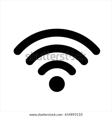 wifi icon black. wi fi vector...
