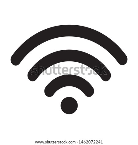 Wifi icon design. Wifi icon, basic shape vector.  Vector illustration.