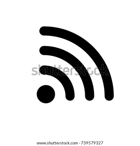 Wifi icon; flat vector design on isolated background. No. 2 variant.