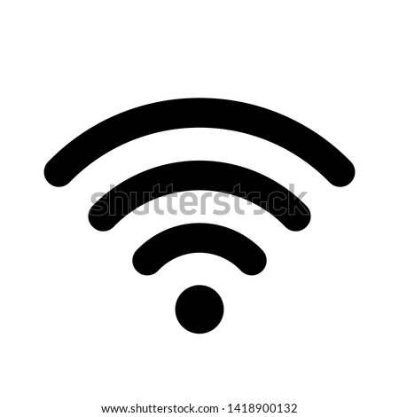 Wifi icon for interface design. Vector wlan access, wireless wifi hotspot signal sign, icon, symbol.