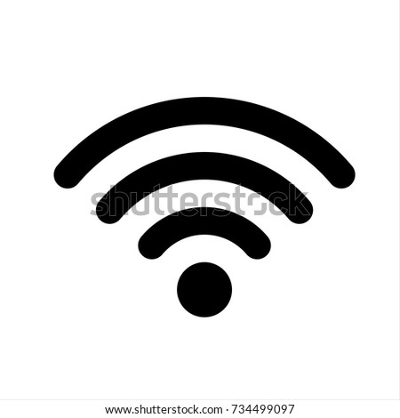 Wifi Icon in trendy flat style isolated on white background. Wifi icon symbol for your web site design,Wifi logo, app, UI. Vector illustration, Wifi icon eps10.