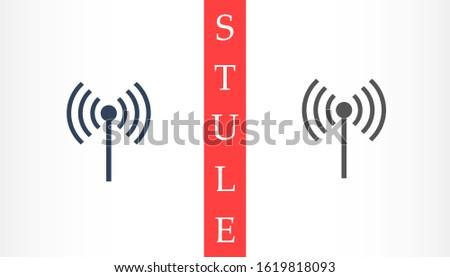 Wifi icon vector illustration. Isolated wifi hotspot symbol. Internet signal graphic design. Wifi icon vector Wireless connection concept pictogram. Wifi icon vector network line symbol