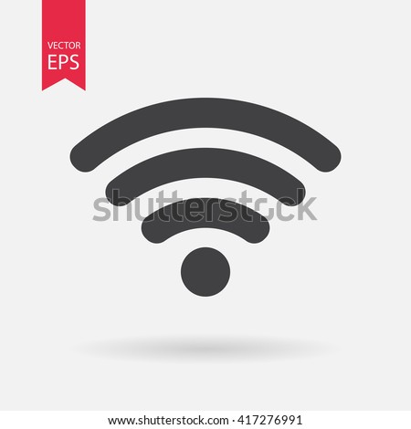 WIFI icon vector, Wireless internet Sign isolated on white background, Flat style for graphic and web design