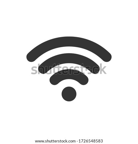 WIFI icon vector, wireless internet sign isolated on white background, flat style, vector illustration