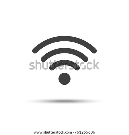 Wifi icon vector, wireless network symbol isolated on white background