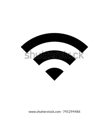 WIFI icon, WIFI icon vector, in trendy flat style isolated on white background. WIFI icon image, WIFI icon illustration