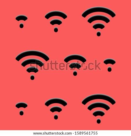 wifi icon. Wireless Fidelity is a wireless communication technology
