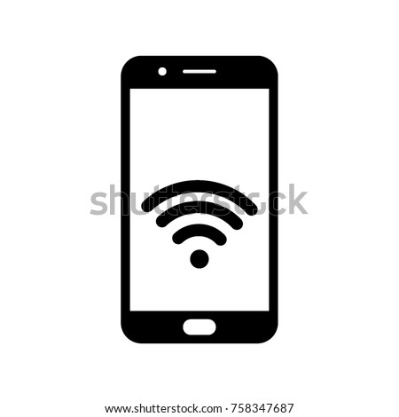 wifi in smartphone screen, vector.