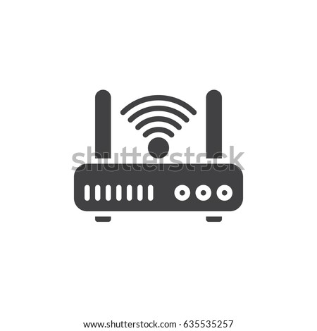 Wifi internet router icon vector, filled flat sign, solid pictogram isolated on white. Symbol, logo illustration. Pixel perfect