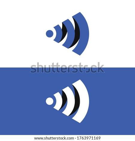 Wifi Minimal flat logo with letter M. Zdjęcia stock ©