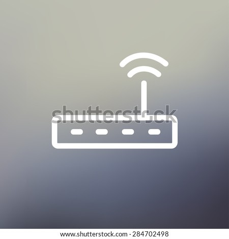 wifi router modem icon thin