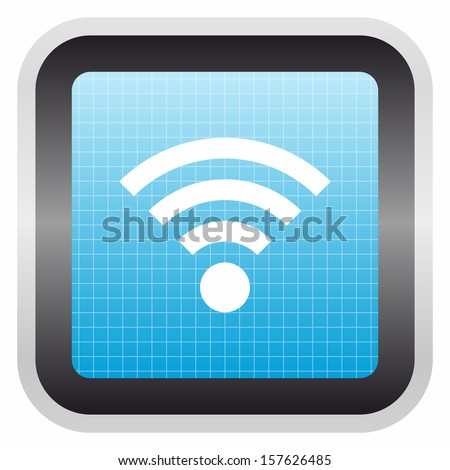 Wifi sign (glossy screen button, blue version)