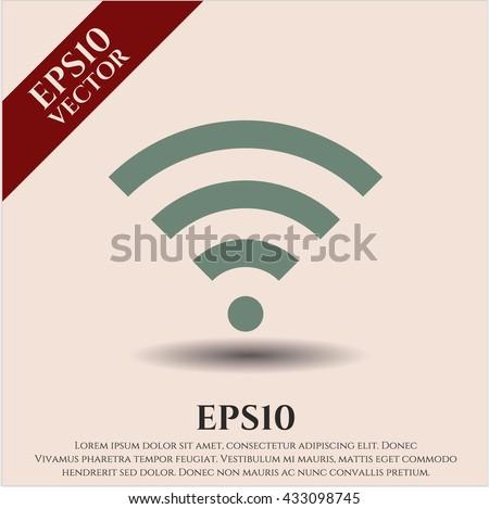 wifi signal icon vector symbol flat eps jpg app web