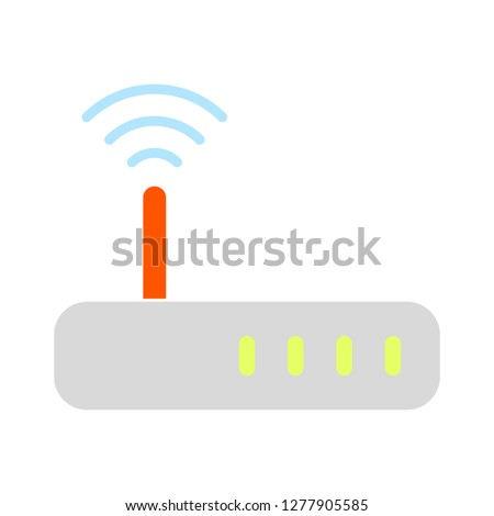 wifi signal router. internet icon - internet modem isolated, wifi network illustration - wifi Vector