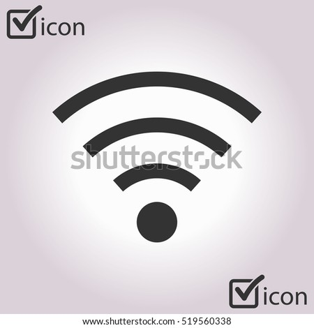 Wifi Symbol. Vector wireless network icon. Flat design