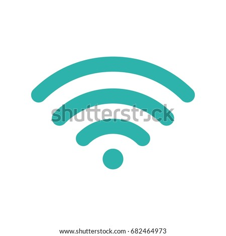 Wifi symbol. Wireless blue icon. Sign for remote internet access. Vector illustration