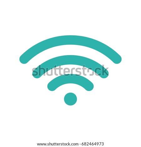 Wifi symbol. Wireless blue icon. Sign for remote internet access. Vector illustration