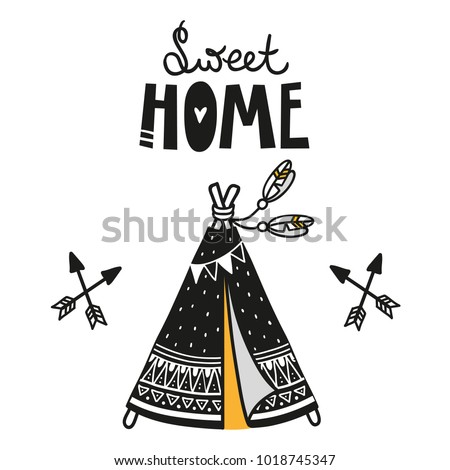 wigwam poster for baby room